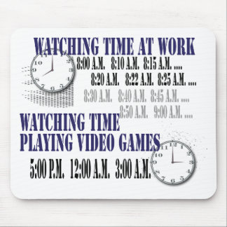 watching time at work mousepads