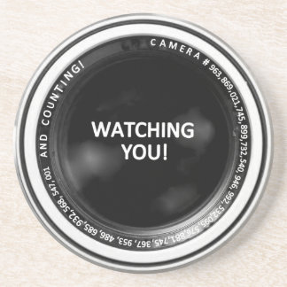 WATCHING YOU! CAMERA LENS COASTER