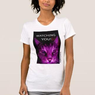 WATCHING YOU! CAT PORTRAIT T-SHIRTS