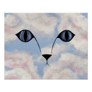 WATCHING YOU! (Cat's eyes design) ~ Poster