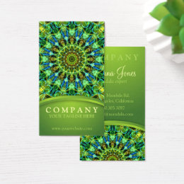 Green energy business cards templates zazzle watching you mandala business card reheart Image collections