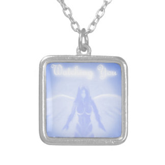 Watching You Silver Plated Necklace