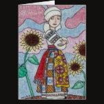 Watching You Ukrainian Girl Folk Art