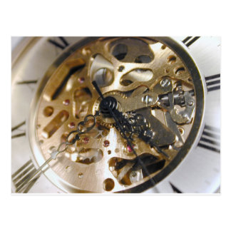 Watchmaker clock working postcard