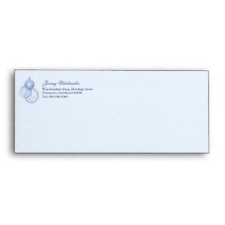 Watchmaker or repair blue business envelope