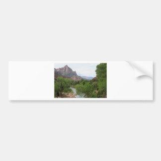 Watchman, Zion National Park, Utah, USA Bumper Sticker
