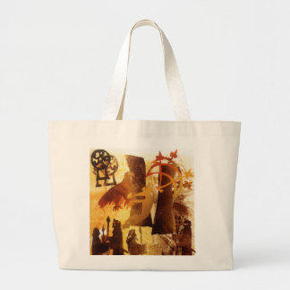 Watchstone and Symbols Large Tote Bag