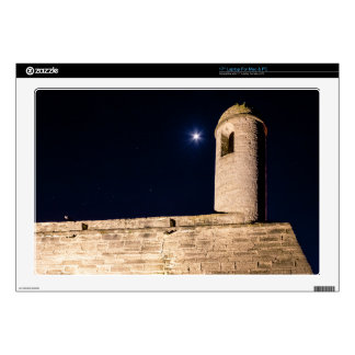 "Watchtower At Castillo De San Marcos At Night 17"" Laptop Decal"
