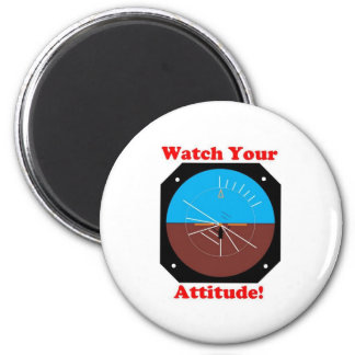 WatchYour Attitude 2 Inch Round Magnet