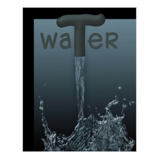 Water - A gift from nature Poster