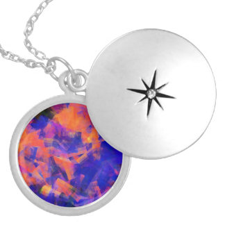 WATER ABSTRACT 1 LOCKET NECKLACE