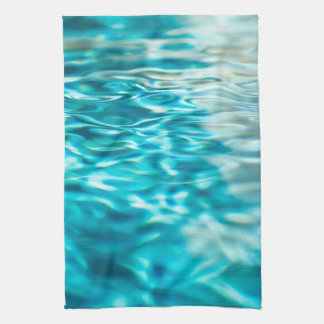 Water Abstract Blue Green Turquoise Aqua Sea Hand Towels