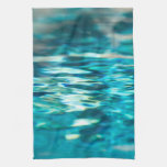 Water Abstract Blue Green Turquoise Aqua Sea Kitchen Towels