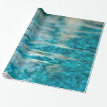 Water Abstract Blue Green Turquoise Aqua Sea Gift Wrap