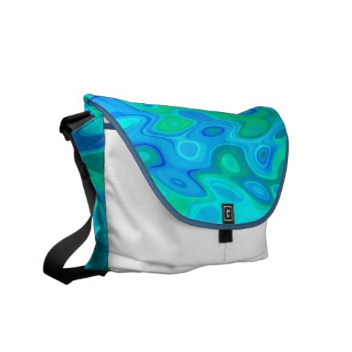 Water Abstract Design Messenger Bags