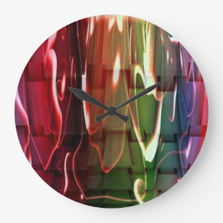 Water Abstract Large Clock