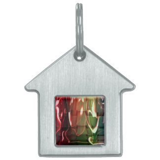 Water Abstract Pet Tag