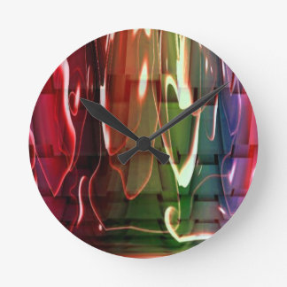 Water Abstract Round Clock