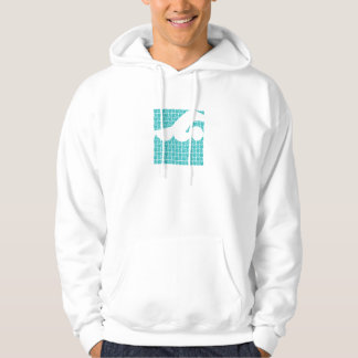 Water abstract swimmer design hoodie