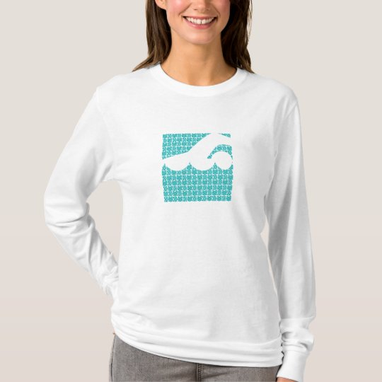 Water abstract swimmer design T-Shirt