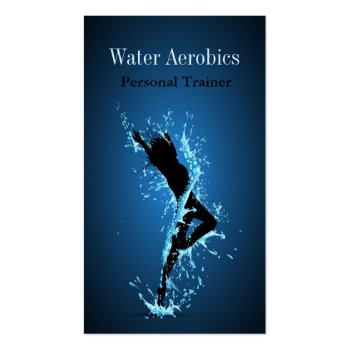 Water Aerobics Professional Personal Business Card