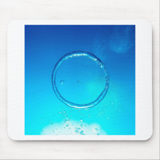 Water Air Ring Bubble Mouse Pad