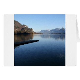 Water Alaska Winter Time Card