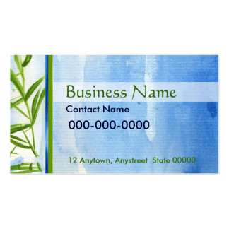 Water and Bamboo Business Card