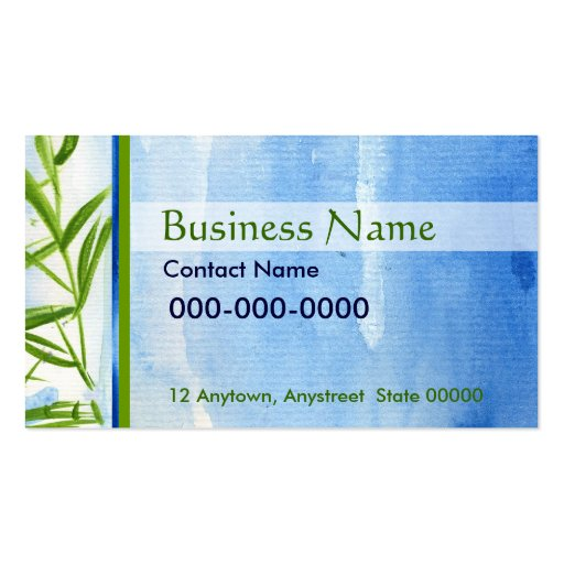 Water And Bamboo Business Card Zazzle