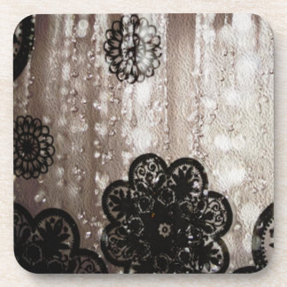 Water and Black Lace Coaster