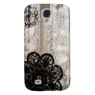 Water and Black Lace Galaxy S4 Cover
