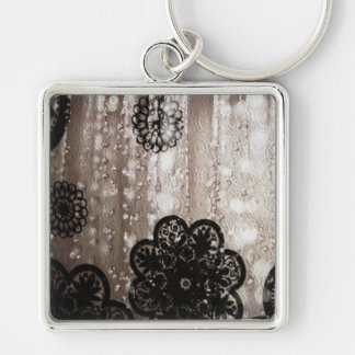Water and Black Lace Keychains