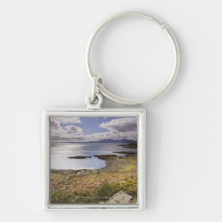 Water and coast view in Bute, Argyll, Scotland Keychain