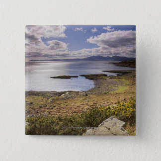Water and coast view in Bute, Argyll, Scotland Pinback Button
