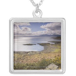 Water and coast view in Bute, Argyll, Scotland Silver Plated Necklace