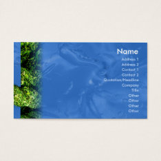 Water and Grass - Business Business Card at Zazzle