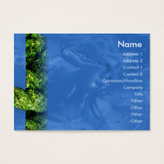 Water and Grass - Chubby Business Card at Zazzle