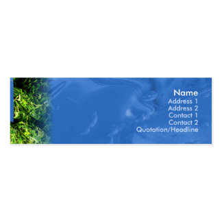 Water and Grass - Skinny Business Cards