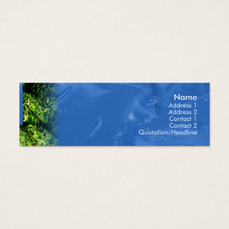 Water and Grass - Skinny Mini Business Card