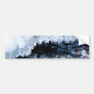 Water and ice car bumper sticker
