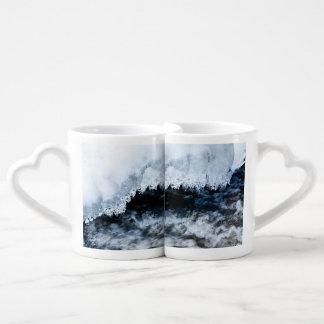 Water and ice coffee mug set