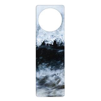 Water and ice door knob hanger