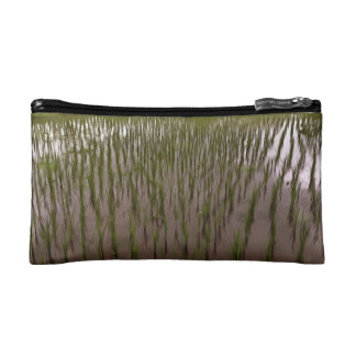 Water and paddy field makeup bag
