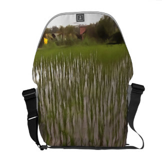 Water and paddy field messenger bag