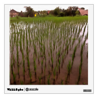 Water and paddy field wall sticker