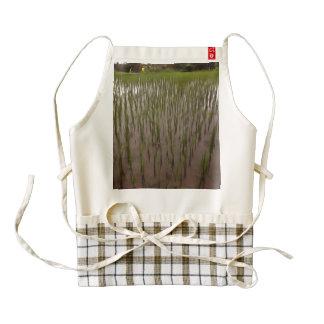 Water and paddy field zazzle HEART apron