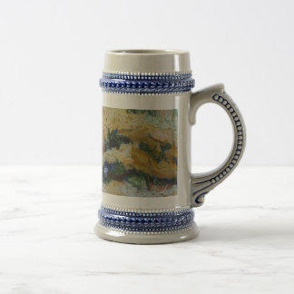 Water and river delta beer stein