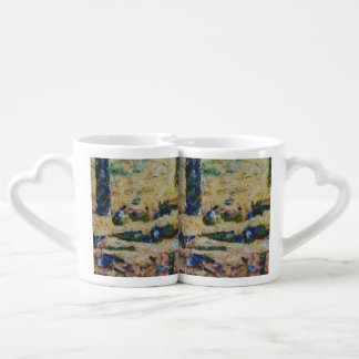 Water and river delta couples coffee mug
