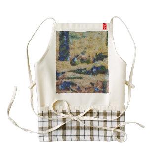 Water and river delta zazzle HEART apron
