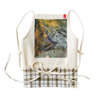 Water and rock zazzle HEART apron